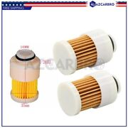 2pc Fuel Filter Element For Mercury Mariner Outboard 75 80 90 100 115 Hp 4stroke