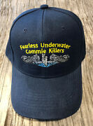 Us Submarine Veteran Silver Dolphins Ball Cap Fearless Underwater Commie Killers