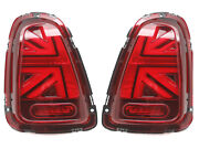 Led Tail Lights 3d For 2010-2015 Mini Cooper R56 R57 R58 R59 - Union Jack Red