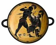 Achilles And Penthesileia Black Figure Small Kylix Vase Exekias British Museum