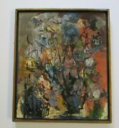 Vintage Mid Century French Russian Mystery Abstract Modernist Expressionist Art