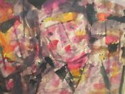 Werner Drewes 1960and039s Painting Abstract Modernism Urban Portrait Vintage 1950and039s