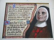 Vintage Icon Portrait Painting Iconic Religious Collection Catholic Nun Listed