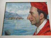 Vintage Icon Portrait Oil Painting Religious Collection Listed American Artist