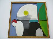 Vintage Oil Painting Large Expressionism 1960and039s Cubist Cubism Modernism Villegas