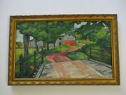Frederick Buchholz Antique 1920and039s New York Impressionist Modernist American Rare