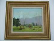 Antique Early California Landcape Painting Signed Mystery Wachtel Style Oil Old