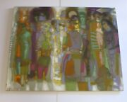 Mid Century Master Douglas Gorsline Painting Abstract Expressionism New York Vtg