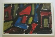 Miklos Nemeth Original Painting Budapest Hungarian Abstract Expressionist Nude