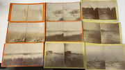 Antique 1880s Cannelton Indiana Rock Island Train Town View Stereoview Lot