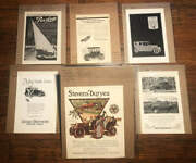 Lot Of 54 Vintage Print Ads Early Autos 1905 -1920s Marmon Waverly Chandler Etc.