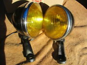 1930's-1940's 5 3/4 Inch B-l-c Fog Lamps With Partial Brackets