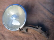 1930and039s 6 Inch King Bee Script Clear Lens Driving Light And Mounting Bracket