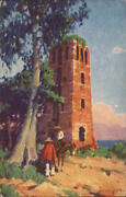 1938 Duncan Gleason The Cathedral Ruins,old Panama Dollar Steamship Lines