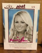 Michelle Baena 2014 Benchwarmer Auto Pink Archives Yearbook Autograph 5/5 Sp