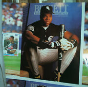 1992 Beckett Frank Thomas Chicago White Sox 4 Uncut Front Back Inside Covers Hof