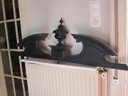Nap Iii Black Wood Carving Antiques French Pediment
