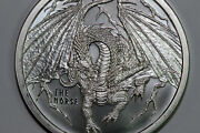 1 Troy Ounce Fine Silver 999 Round The Norse World Of Dragons Num5831