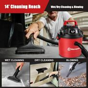 Vacmaster Car Vacuum Cleaner Portable 2.5 Gallon Wet Dry Shop Vac Wall Mountable