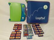 Leappad Learning System/case Lot Of 38 Mixed Games Leappad Phonics Leapstart Lea