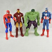 Hasbro 11 Action Figures Hulk Spiderman Ironman And Captain America Preowned