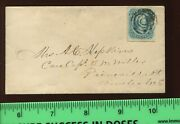 Confederate States 12 Used On Small Cover To Amelia Co Virginia Csa 12 C1