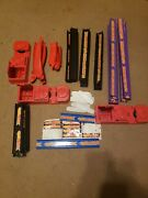 Large Lot Vintage Mattel Hotwheels Track 1996 And Accessories