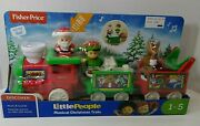Fisher-price Little People Musical Christmas Train - Santa, Elf And Reindeer - New