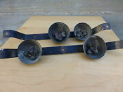 Great Antique Set Of Cast Iron Carriage Horse Set Of Bells Sound [y8-w7-a9]