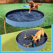 Foldable Dog Paddling Pool Pet Puppy Swimming Pool Kids Shower Indoor Outdoor