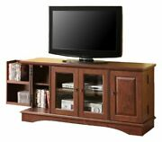 Walker Edison Wood Universal Stand With Storage Cabinets For Tv's Up To 65 L...