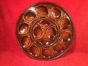 Majolica Master Oyster Platter St. Clement, France Holds 12 Oysters Plate