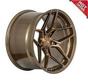 Front 20x10 Rear 20x11 Staggered Rohana Wheels Rfx11 Brushed Bronze Rims 5x110