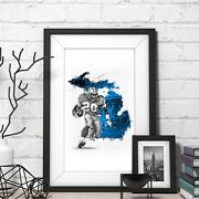 Barry Sanders Limited Edition Wall Art 12x18 Poster Print