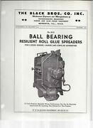 The Black Bros. Co. Ball Bearing Reselient Roll Glue Spreaders 1947 Brochure