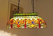 Style Stained Glass Pool/game Table Ceiling Pendant Light Handcrafted