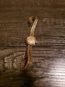 Omega Womens Vintage Watch Late 1950s Running. 14k Gold.