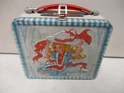 Vintage Aladdin Junior Miss Metal Lunchbox With Thermos