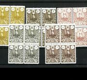 Middle East Country Scand039s 440-44 F-vf Mnh Blocks Of 4. Cat.940.00 @90