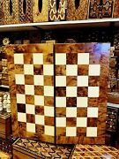 3in1 Antique Large Backgammon Chess Set Moroccan Handmade Rare Wooden Game Board