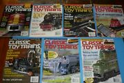 7 Classic Toy Trains Toy Train Collector Magazine Lot - 2002
