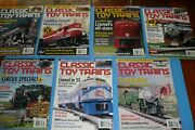 7 Classic Toy Trains Toy Train Collector Magazine Lot - 2003