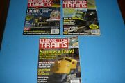 3 Classic Toy Trains Toy Train Collector Magazine Lot - 2006