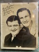 1940's Abbott And Costello, Hand Signed In Ink, 8x10 Photo Comedy Duo Autograph