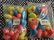 Floating Ducks Plastic Carnival 24 Count Multi Colored And Weighted Ducks
