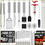 Romanticist 31pcs Stainless Steel Grill Tool Set Heavy Duty Bbq Grilling