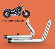 Fit For Harley Dyna 2012-2016 Switchback Fld Full Exhaust Chrome1