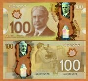 Bank Of Canada 100 2011 Polymer P-110c Unc