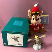 Disney 1998 Wdcc Dumbo Flying Elephant Ornament Figurine And Timothy Mouse Plush
