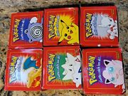 Pokemon Red Burger King 23k Gold Plated Cards 1999 Complete Set 6 Factory Sealed